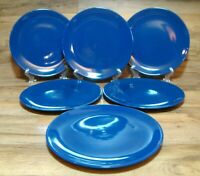 "SET OF 6 - IKEA FARGRIK - SYNTES DARK BLUE 10 1/4"" DINNER PLATES - ROMANIA - LN"