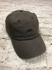 OBEY Skate Hat Cloth Strap Adjustable Cap One Size Army Green