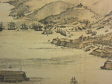 1874 CRIMEAN WAR MAP VIEW OF SEBASTOPOL FROM THE SEA ENGLISH CAMP HARBOUR DOCKS