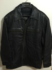 Mens Wilsons Thinsulate Black Leather Jacket Size S