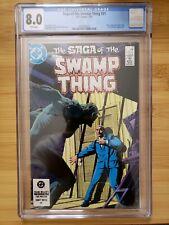 Saga of the Swamp Thing #21 (1984) CGC 8.0 New Origin of Swamp Thing