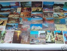 POSTCARD LOT 50+ STANDARD SIZE '50's-80's! NEW HAMPSHIRE, TOPICAL, SCENERY USED!