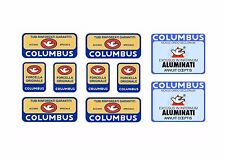 Columbus Bike Bicycle Frame Tube Decals Factory Stickers Adhesive Vinyl 10pcs