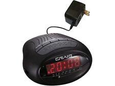 Craig 0.6 inch Dual Alarm Clock Digital PLL AM/FM Radio with Bluetooth Wire