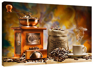 Kitchen Coffee Grinder Canvas Wall Art Picture Print