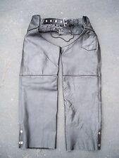 Vintage Interstate Leather Riding Biker Motorcycle Womens Chaps Pants Size Small