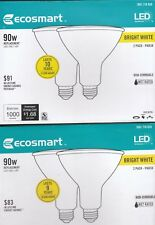 ECOSMART LED Flood Light Bulb 90W Equivalent Wet Rated Bright White - 4 PK