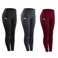 US Women Gym Fitness Compression Tights Pants Running Yoga Sports Long Trousers