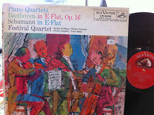 Festival Quartet: Beethoven Op. 16 Schumann Op. 47 RCA 1s 1s  LM 2200