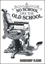 "TARGA VINTAGE ""OLD SCHOOL CLASSIC HAIR CUT BARBER SHOP"" ADVERTISING,POSTER PLATE"