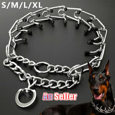 Collar Choke Chain Training Dog S-XL Steel Metal Prong-Pinch1
