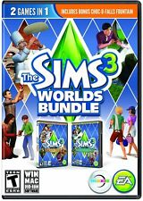 The Sims 3 Worlds Bundle: Hidden Springs & Monte Vista [PC-DVD MAC Computer] NEW