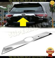 For 2014-2018 TOYOTA Highlander Chrome Stainless Tailgate Liftgate Handle W/ SMK