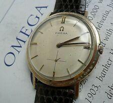 Vintage 1962 Men's 14k Gold Filled Omega 17J Mechanical Watch w/ SIGNED Band