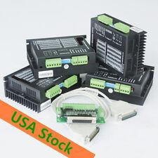 USA&EU freeWantai 4pcs Nema 23 stepper motor driver DQ542MA 18-50V 4.2A