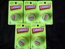 NEW LOT 5 Carmex Original Lip Balm Jars tubes great for cold sores