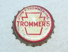 TROMMERS BEER PA TAX CORK BOTTLE CAP - TOUGH CAP - NEW JERSEY