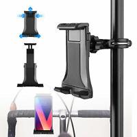 "Universal 4-12.5"" Mic Stand Bike Phone Tablet Holder Bicycle Handlebar Mount"
