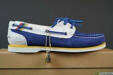 WOMEN'S LADIES TIMBERLAND NAVY SUEDE BOAT DECK SHOES TRAINERS SIZE UK 3.5  EU 36