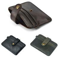 Men's PU Leather Money Clip Wallet Credit Card ID Holder Front Pocket Case