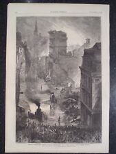 The Great Boston Fire Harper's Weekly 1872 Original Print #6