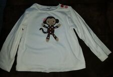 Girls Gymboree adorable sock monkey top Sz 2T (pre-owned)