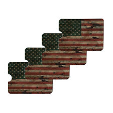 Rustic American USA Flag Distressed Credit Card RFID Blocker Sleeves Set