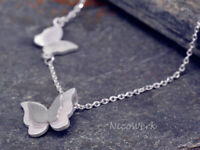 Silberkette mit Anhänger Schmetterling Halskette Damen 925 Silber Kette Schmuck