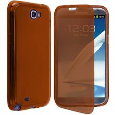Custodia in TPU e Flip Cover Arancione per Samsung Galaxy Note II / N7100