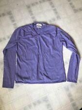 WEATHERPROOF VINTAGE sz L Purple Cotton Cashmere CrewNeck Sweater Lightweight