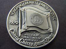 1970 Mid-City SALUTATIONS KENTUCKY .999 Silver Oxide HiRelief MardiGras Doubloon