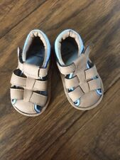 John Lewis Infant Brown Sandals In Size 6-12 Months