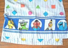 Sesame Street Shapes Twin Sheet Set 1 flat 1 fitted Big Bird Elmo Cookie Bert