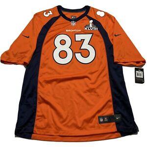 NEW Wes Welker #83 Denver Broncos Super Bowl Nike Field NFL Jersey XXL Football