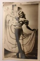 VINTAGE RPPC POSTCARD  SHOWGIRL Dancer posted 1948