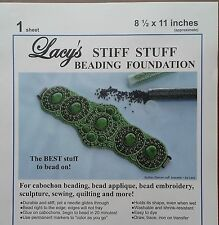 "Lacy's Stiff Stuff Beading Foundation Bead Embroidery Fabric 8.5 x 11"" White"