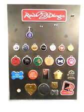 Red Dingo Dog Tag Counter Top Display  9 1/2 x 13