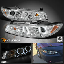 1997-2003 Pontiac Grand Prix Chrome LED DRL Halo Projector Headlights