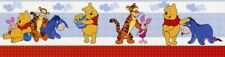 Nursery Wall Border Vintage Disney Winnie the Pooh Bear & Friends Self Adhesive
