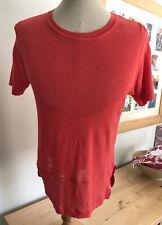 Jigsaw Red Linen T Shirt M