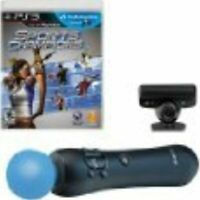 Move Starter Bundle Camera Move Controller Game PS3 For PlayStation 3 5Z