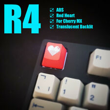 Red Heart ESC Translucent Backlit Keycaps for Cherry Gaming Mechanical Keyboard