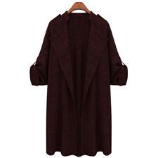 Plus Size Women's Winter Long Jacket Trench Coat Blazer Parka Overcoat Outwear