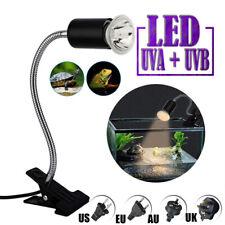 Reptile Heating Light Bulb Tortoise Turtle Lizard UV Basking Lamp Clip Holder UK