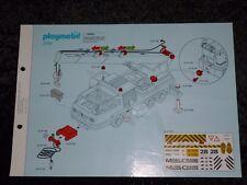 Playmobil Bauanleitung Schwerlast - Mobilkran 3761/No.3080176 von ca.1995 !