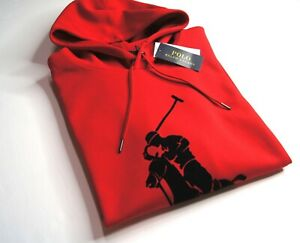 POLO RALPH LAUREN Men's Large Pony Double Knit Hoodie NEW NWT