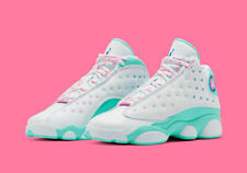 Nike Air Jordan 13 Retro White Soar Green Pink (Size 6 & 7 GS) NEW AUTHENTIC