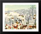 Sugaring Off, 1955 33x27 Large Black Wood Framed Art Print by Grandma Moses
