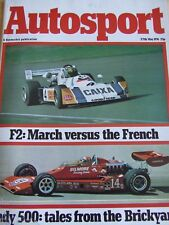 AUTOSPORT MAGAZINE MAY 1976 F2 MARCH v FRENCH INDY 500 F1 LIGIER-MATRA PEUGEOT 6