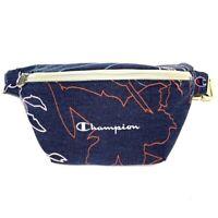 NEW CHAMPION fanny pack NWT blue sun bleached bum bag purse flower floral print